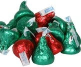HERSHEY'S KISSES - RED & GREEN 1KG