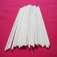 50 WHITE LOLLIPOP STICKS 15CM