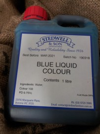 BLUE FOOD LIQUID COLOURING 1L