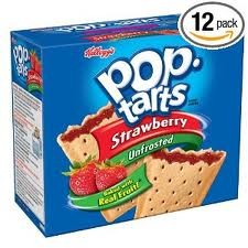 KELLOGGS POP TARTS STRAWBERRY UNFROSTED