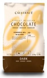 CALLEBAUT DARK 80% CHOCOLATE CALLETS 2.5KG