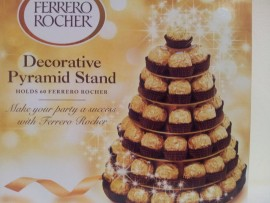 FERRERO ROCHER DECORATIVE PYRAMID STAND