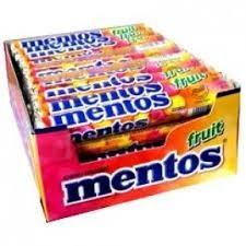 BOX MENTOS ORIGINAL FRUIT ROLLS 40 X 37.5g
